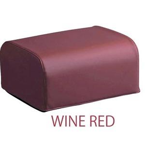 座椅子用オットマン 厚み20cm スーパーソフトレザー(合成皮革)使用 日本製 ワインレッド(赤) 【完成品】