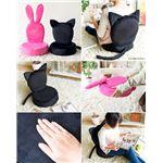 アニマル型折りたたみ座椅子 【うさぎ】 軽量/コンパクトサイズ 【完成品】