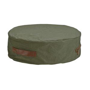 極厚帆布クッション(低反発クッション/丸型座布団) 軽量 コンパクト 厚さ17cm 『HANPU』 洗えるカバー カーキの詳細を見る