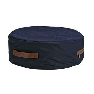 極厚帆布クッション(低反発クッション/丸型座布団) 軽量 コンパクト 厚さ17cm 『HANPU』 洗えるカバー ネイビーの詳細を見る