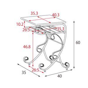 アンティーク調ナイトテーブル/サイドテーブル ...の紹介画像4
