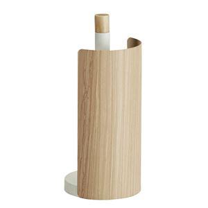 木転写キッチンペーパーホルダー 【タテ置きタイプ】 幅13cm スチール製カバー スリム 『TEER』 ナチュラル 【完成品】