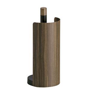 木転写キッチンペーパーホルダー 【タテ置きタイプ】 幅13cm スチール製カバー スリム 『TEER』 ブラウン 【完成品】