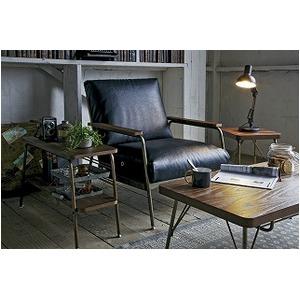 ヴィンテージ 古材風 テーブル センターテーブル リビングテーブル スチールフレーム