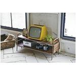 ヴィンテージ風テレビ台(テレビボード/ローボード) 幅93cm/〜32インチ対応 木製天板×スチールフレーム の画像