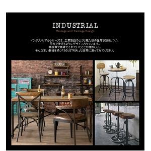 チェア INDUSTRIAL(インダストリアル) 幅61×奥行き52×高さ80cm 合成皮革 綿 ウレタン 合板 スチール アジャスター付き ブラック ブラウン CH-A29
