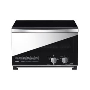 ミラーガラス オーブントースター/キッチン家電 【出力切替4段階】 焼きムラ軽減