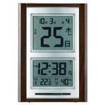 日めくり電波時計(置時計) デジタル表示 アラーム/スヌーズ機能/温湿度表示 NA-101