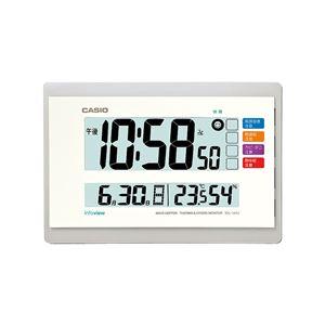 生活環境お知らせクロック/電波時計【温度・湿度計測】本体一体型自立スタンド付き
