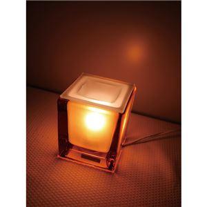 インテリアアロマランプ/照明器具 【クリア】 8.5×8.5×9.5cm プレスガラス 中間スイッチ付き