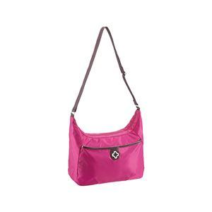 【マリクレール】 ショルダーバッグ/肩掛け鞄 【ピンク】 幅31cm ナイロン製 〔お出掛け ショッピング トラベル 旅〕