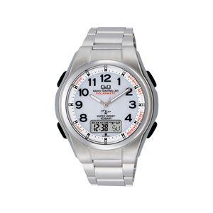ソーラー電波腕時計 アナログ表示 10気圧防水/フルオートカレンダー/クロノグラフ MD02-204 - 拡大画像