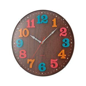 電波時計 エアリアルキッズ 球面(ドーム)ガラス アナログ表示 夜間秒針停止機能付き W-618 BR ブラウン - 拡大画像