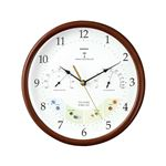 ウェザーパル電波時計(天気予測付き時計) 温湿度表示付き アナログ表示 BW-873