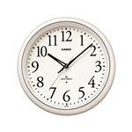 壁掛け電波クロック/掛け時計 【夜見えライト機能付き】 秒針停止機能