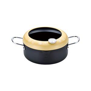 天ぷら鍋/揚げ鍋【20cm】フード・温度計付き日本製