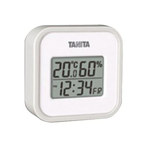 デジタル温湿度計 グレー TT-558-GY