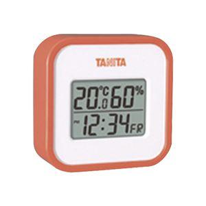 デジタル温湿度計 オレンジ TT-558-OR