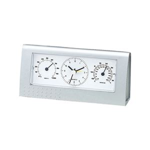 マルチクロック/置き時計【アナログ表示】アラーム機能温度計・湿度計