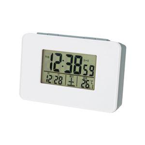 電波目覚まし時計(デジタル置時計) バックライト/アラーム/スヌーズ機能/温度表示付き SN-01 - 拡大画像