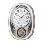 薄型 からくり電波時計/掛け時計 【文字板360°回転】 ステップ秒針 『Small World スモールワールドノエル』