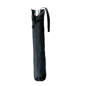 スリムミニ 折りたたみ傘/日傘 【紫外線カット率90%以上】 ブラック 晴雨兼用傘 礼装用可