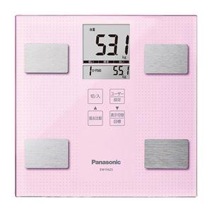 【Panasonicパナソニック】体組成バランス計/体重計【ライトピンク】自動電源ONユーザー識別