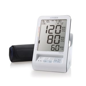 【CITIZEN シチズン】 血圧計/健康器具 【上腕式】 6段階血圧分類表示