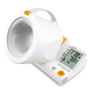【OMRON オムロン】 デジタル自動血圧計/健康器具 【全自動巻 きつけ腕帯】 適応腕周:17~32cm