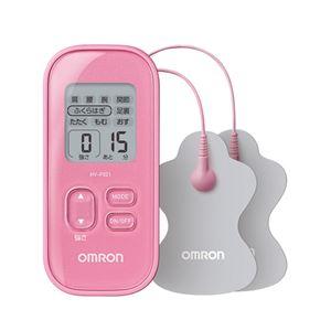 【OMRON オムロン】 低周波治療器/健康器具 【ピンク】 部位選択モード パッド水洗い可 〔リラックス リフレッシュ〕