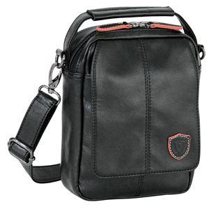 縦型ショルダーバッグS/肩掛け鞄【ブラック】合成皮革/合皮〔お出掛けショッピングトラベル旅〕『EDKRUGEREK』