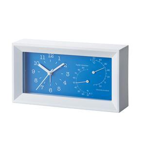 エレガントクロックサーモ(大)/置き時計【ビッグサイズ温湿度計付き】アラーム