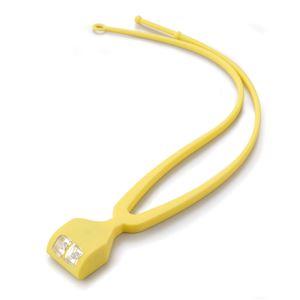 手ぶライト/LEDライト 【イエロー】 LED2灯使用 ストラップ:2段階長さ調節可 〔ウォーキング ペットの散歩 夜間作業 夜釣り〕