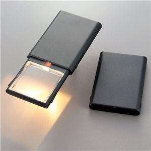 スライドライトルーペ/虫眼鏡 【ライト付き】 レンズサイズ:45×45mm 倍率:2倍
