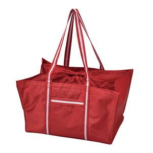 エコマイラインバッグ/買い物トートバッグ【レッド】レジカゴ対応ポリエステル製