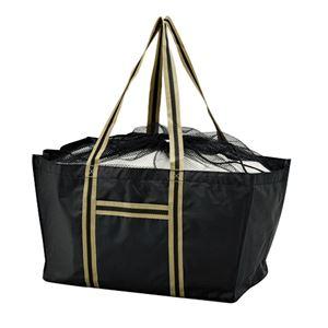エコマイラインバッグ/買い物トートバッグ【ブラック】レジカゴ対応ポリエステル製