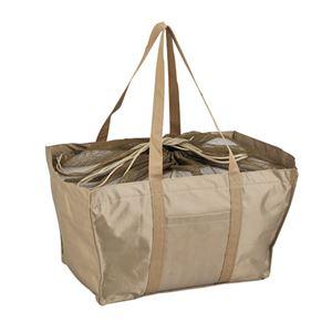 エコマイバッグ/買い物トートバッグ【ベージュ】レジカゴ対応ポリエステル製