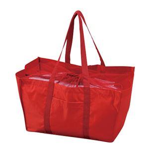 エコマイバッグ/買い物トートバッグ【レッド】レジカゴ対応ポリエステル製