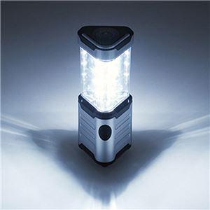 LEDランタン/LEDライト 【12灯】 5.7×6.3×15.3cm 電源/単三形 〔キャンプ アウトドア バーベキュー 災害時〕