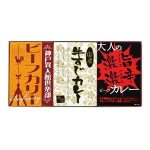 味わいカレー/レトルトカレー【3Pセット】ビーフカリー牛すじカレー激辛カレー化粧箱入り日本製