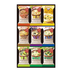 【アマノフーズ】バラエティギフトセット【9点セット】お味噌汁たまごスープ化粧箱入り日本製〔お中元お歳暮内祝い〕