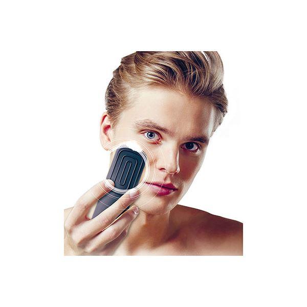 音波振動シリコン洗顔ブラシ ブラック/男性用 000KQ3226