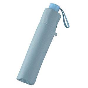 UV晴雨兼用大寸耐風式軽量ミニ傘 ブルー 5039