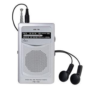 AM・FMポケットラジオFM-108