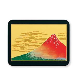 漆芸長角マウスパッド赤富士黒M16680-4