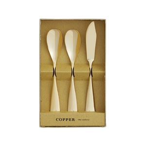 COPPER the cutlery ギフトセット 3pc /Gold mirror (アイスクリームスプーン2本&バターナイフ)