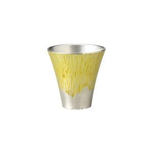 富士山タンブラー(小)黄(錫製・錫食器・本錫)