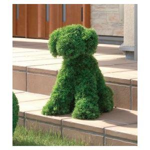 光の楽園【動物トピアリー/フェイクグリーン】45cm イヌS