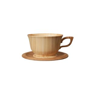RIVERET(リヴェレット) 竹製 ティーカップ&ソーサー ホワイト RV-202W