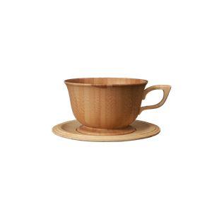 RIVERET(リヴェレット) 竹製 ティーカップ&ソーサー ブラウン RV-202B